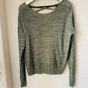 So Olive Green Crossback Sweater